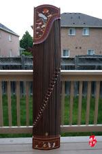 Dunhuang Guzheng, Chinese Zither Harp, 敦煌特氏古夷蘇木古箏 -- 荷塘月色