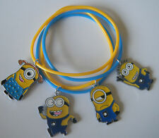 4 MINIONS GUMMY BANDS CHARM BRACELETS PARTY BAG FILLERS PRIZES GIFTS MINION FAIR