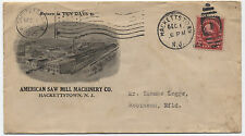 1925 Hackettstown NJ flag cancel advertising cover to Newfoundland  [1748]