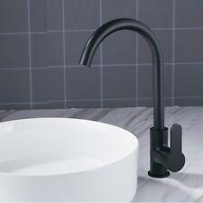 Swivel Pull Mixer Tap Faucet Spout Handle Waterfall Basin Kitchen Bathroom Black