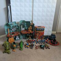 Vintage 80s MOTU Master of the Universe Lot ~ Figures, Grayskull, Vehicles, Case