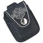 Zippo HDPBK, Harley Davidson Black Leather Lighter Pouch, Belt Loop