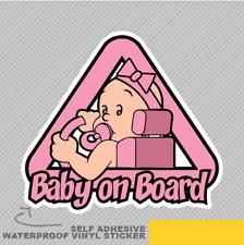 Baby Girl On Board Cute Sweet Vinyl Sticker Decal Window Car Van Bike 2658