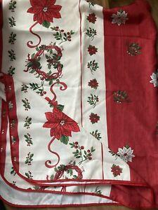 Christmas Linen Tablecloth