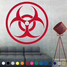 Biohazard Decal Sticker Warning Symbol Sign Wall Door Room House Logo Decor V4
