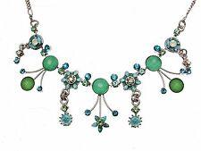 Blue Flower Necklace Floral Necklace Necklaces For Women Statement Necklace