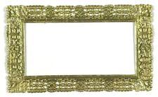 Victorian Scrap Die Cut German Dresden Gold Paper Rectangle Frame 3 x 4.75 Craft