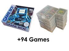 100% ORIGINALE NINTENDO GAME BOY CLASSIC + 94 giochi in originale Imballaggio - > Top