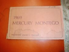 1969 MERCURY MONTEGO MX CYCLONE ORIGINAL FACTORY OWNERS MANUAL 1ST PRINT