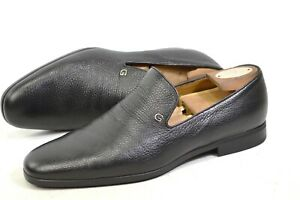 GUCCI Loafer made in Italy 41.5 / US 8.5 / 7.5UK shoes 367757 moccasins grained