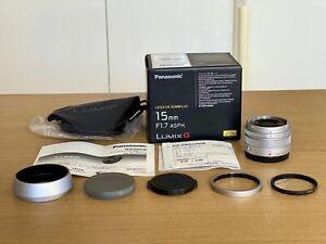 【TOP MINT】Panasonic Leica DG Summilux 15mm f/1.7 ASPH Lumix G *GENUINE AU* w/UV