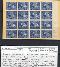 1948 KGVI RSW SOUTH AFRICA 3d SG125  UNMOUNTED MINT Block of 16 with 4 errors!