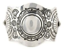 Navajo Sterling Silver Cuff Remarkable Museum Quality Highly Detailed