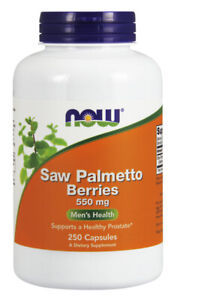 NOW Supplements Saw Palmetto Berries 550 mg - 250 Capsules
