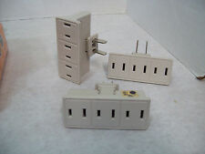 Set 3 Westinghouse 3 Outlet Polarized Swivel Wall Adapters Expansion Outlet L4