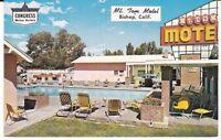 "Bishop CA  ""The Mt. Tom Motel""  Congress Motor Hotels Postcard California"