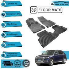 3D Molded Interior Car Floor Mat for Audi Q5 2015-2019(Black)