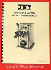 JET/Asian JWG-12 & JWG-34 Butt Welder Instructions & Parts Manual 0877