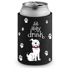 PET PARTY Collection: Sit, Stay, Drink Neoprene Can Cooler