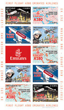"VIGNETTES AERIENNES ND ""Airbus A380 Emirates Airlines 1er Vol Dubaï-Moscou"" 2012"