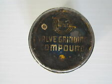 Vintage Whiz valve grinding compound tin can motor oil gas sign advertising