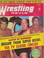 MARCH 1974 WRESTLING REVUE wrestling magazine VERNE GAGNE