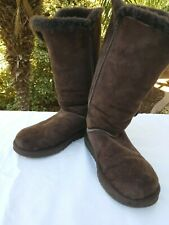 UGG Bailey button triplet triple brown tall boots size us 7 women's 18730