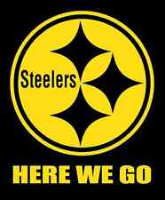 Pittsburgh Steelers Here We Go Car Window Laptop mac apple vinyl decal NFL Ben