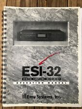 Emu Esi-32 Manual Incl Turbo Option Kit Official