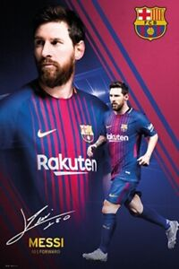 FC Barcelona Lionel Messi Collage 17/18 Futbol Soccer Sports Poster 24x36 inch