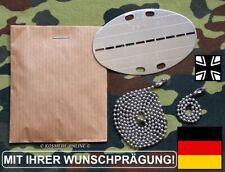 """100% orig.1980er """"GE"""" Erkennungsmarke mit Wunschprägung Bundeswehr BUND DogTag"""