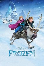 Frozen MOVIE POSTER-Anna Kristoff Sven RIDE-NUOVI Frozen film poster