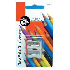 JAKAR Paquet de 2 métal Unique Trou crayon taille-crayons