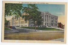 New Bedford High School MA Mass Massachusetts Linen Vintage Postcard