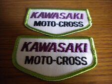 "NOS Vintage Kawasaki 70's Moto-Cross VMX ARHMA Patch 3.5"" x 2"" Quantity 2 KX125"