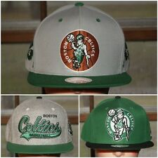 Lot of 3 Mitchell Ness NBA Boston Celtics Hat Snap Strap Back Hat Finals Jersey