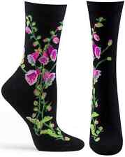 Fairy Gloves Ozone Crew Socks New Women Hosiery Size 9-11 Foxgloves Pink