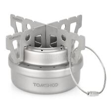 Ultralight Outdoor Camping Mini Titanium Alcohol Stove with Cross Stand US M4Q7