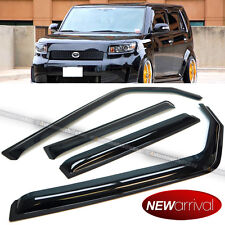 Fit 08-14 xB bB Black Acrylic In Channel Weather Shield Guard Window Visors
