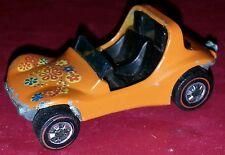 Hot Wheels Dune Daddy 1969 redlines  orange dune buggy Rare!