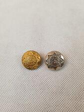 W676 25mm 40L Ivory Cream /& Brass Metal Star Flower Shank Jacket Coat Buttons