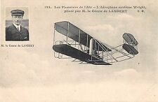 CPA AVIATION PIONNIERS AIR AEROPLANE SYSTEME WRIGHT PILOTE PAR LAMBERT