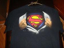Wonderful Superman Secret ID T-Shirt, Size Medium, Nice Condition! DC Comics