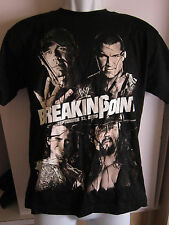 WWE WRESTLING T-SHIRT,BREAKING POINT 2009,PUNK,HHH,HBK,CENA,UNDERTAKER,ADULT 3XL
