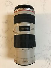 Canon EF 70-200mm F/4 L IS USM Lens — Mint Condition