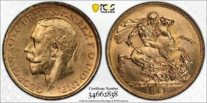 1911P Sovereign in PCGS MS61