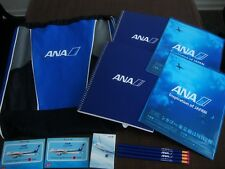 Lot of 12 NEW ANA Set Backpack All Nippon Air Airways Blue Airline Airplane Note