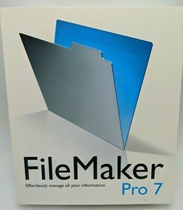 FILEMAKER PRO 7 for the MAC • Full Version