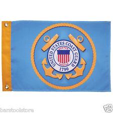 "New listing New U.S. Coast Guard 12"" x 18"" Garden or Wall Flag 3621"