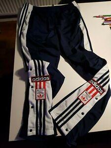 Gebraucht Adidas Adibreak Sporthose Knopfhose Hose nvy/wht/red Size L